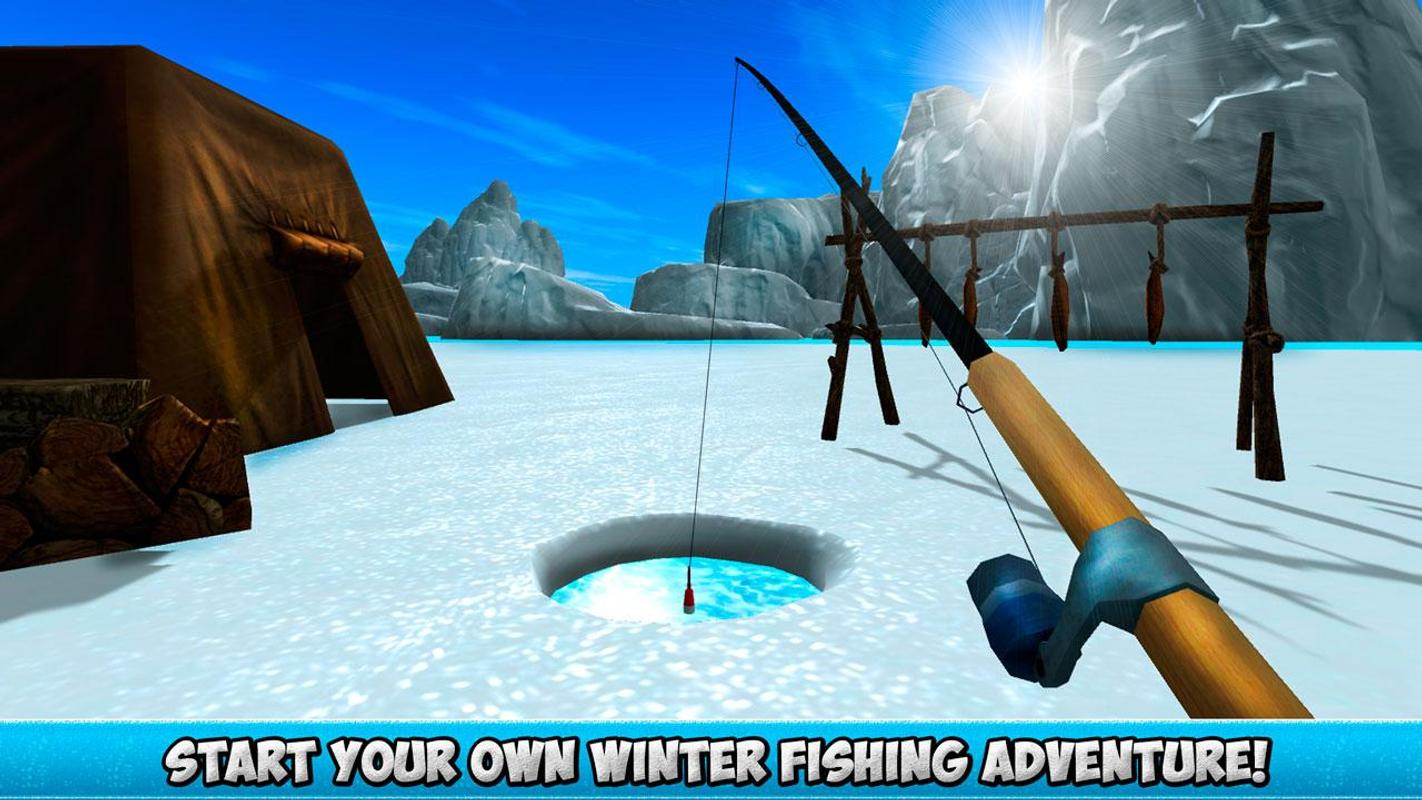Ice winter fishing 3d apk download free simulation game for Fishing game android