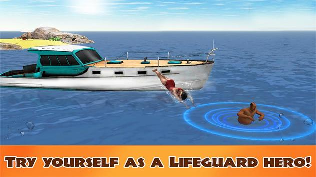 Beach Emergency Rescue Team 3D poster