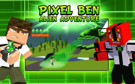 Pixel Ben Alien Adventure apk screenshot