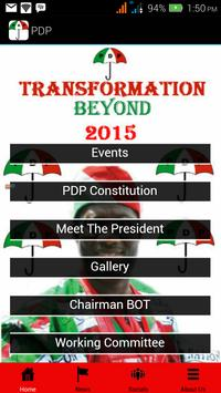 PDP of Nigeria poster