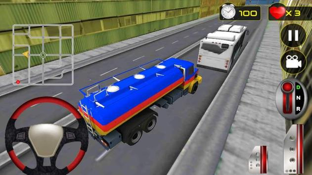 Real Oil Truck Driving 3D screenshot 15