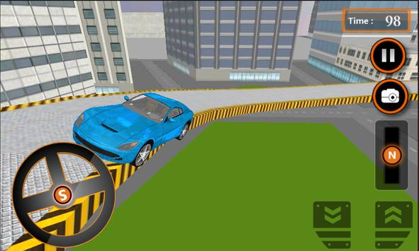 Crazy Car Roof Jumping 3D poster