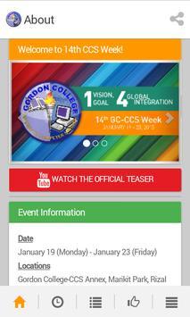 GC-CCS Week 2015 apk screenshot