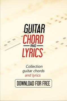 Guitar Chords of One Direction poster