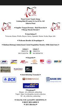 AB Collection Tanah Abang poster