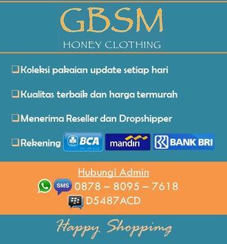 Honey Clothing (GBSM) poster