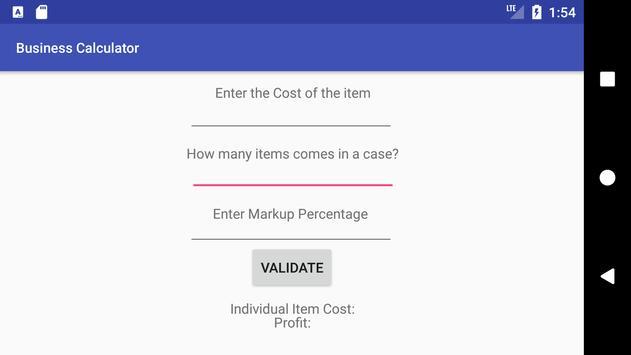 Business Calculator apk screenshot