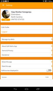 Golf Alerts screenshot 8