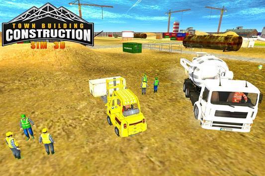 Town Building Construction Sim poster
