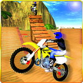 Bike Race Beach Stunt Mania 3D icon