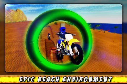 Bike Race Beach Stunt Mania 3D screenshot 4
