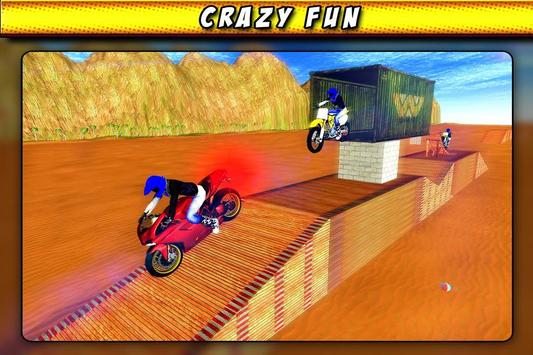 Bike Race Beach Stunt Mania 3D poster