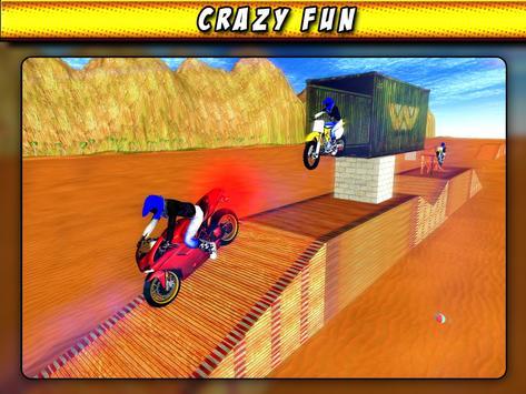 Bike Race Beach Stunt Mania 3D screenshot 10