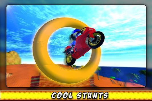 Bike Race Beach Stunt Mania 3D screenshot 2