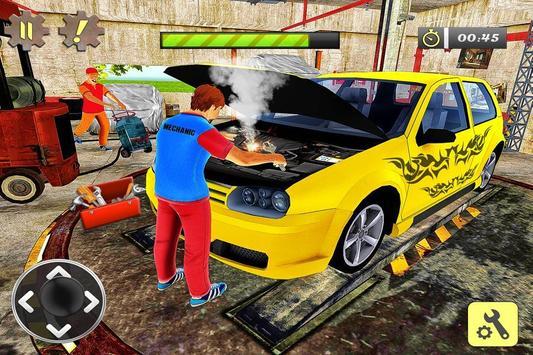 Car Mechanic Auto Workshop 3D poster