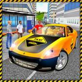 Taxi Drive 3D City Rush Duty icon