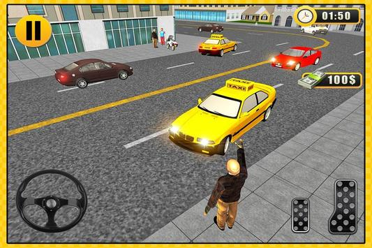 Taxi Drive 3D City Rush Duty poster