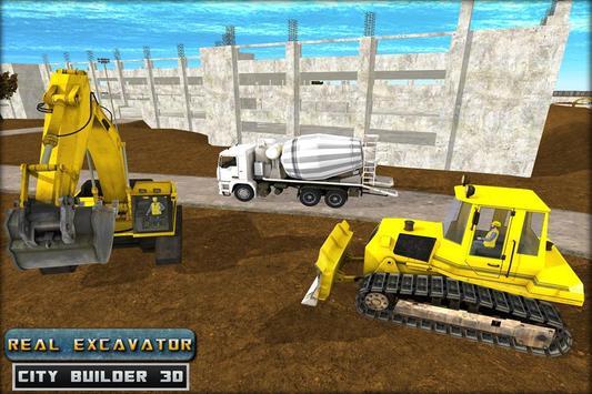 Real Excavator City Builder 3D poster