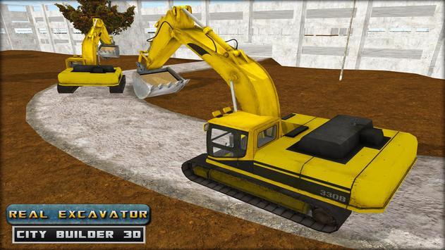 Real Excavator City Builder 3D apk screenshot