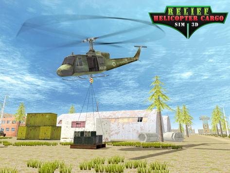 Relief Helicopter Cargo Sim 3D poster