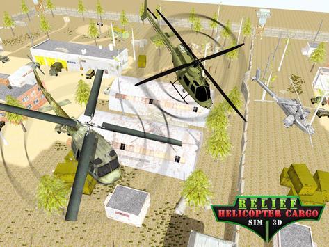 Relief Helicopter Cargo Sim 3D apk screenshot