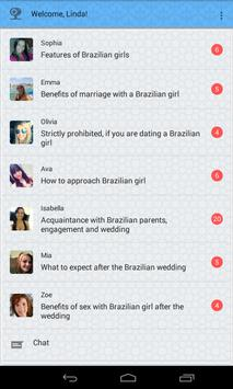 Dating with Brazil girls poster