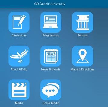 GD Goenka University poster