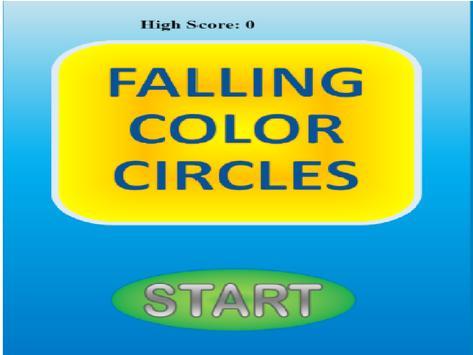 Falling Color Circles poster