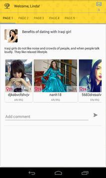 Dating with Iraq girls apk screenshot