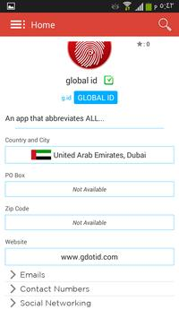 Global ID apk screenshot