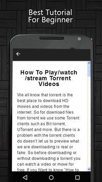 Torrent Video Player Tips apk screenshot