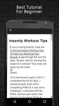 Insanity Workout Tips screenshot 1