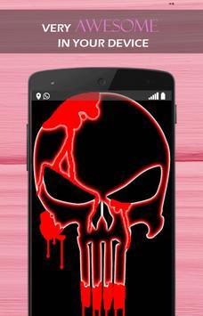 Red Blood Skull wallpaper apk screenshot