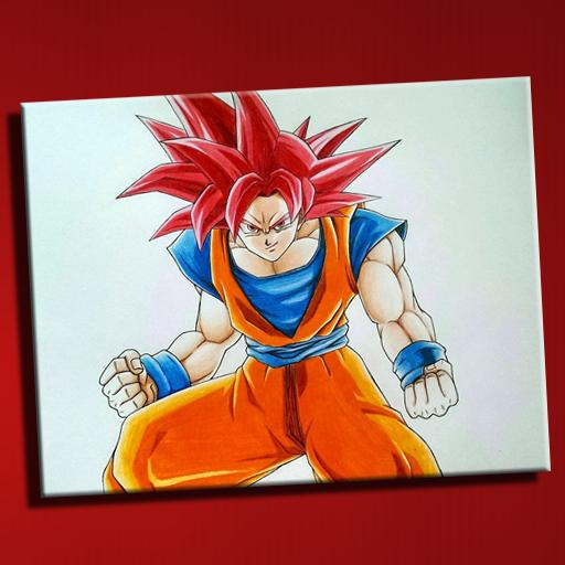 How To Draw Super Saiyan God For Android Apk Download