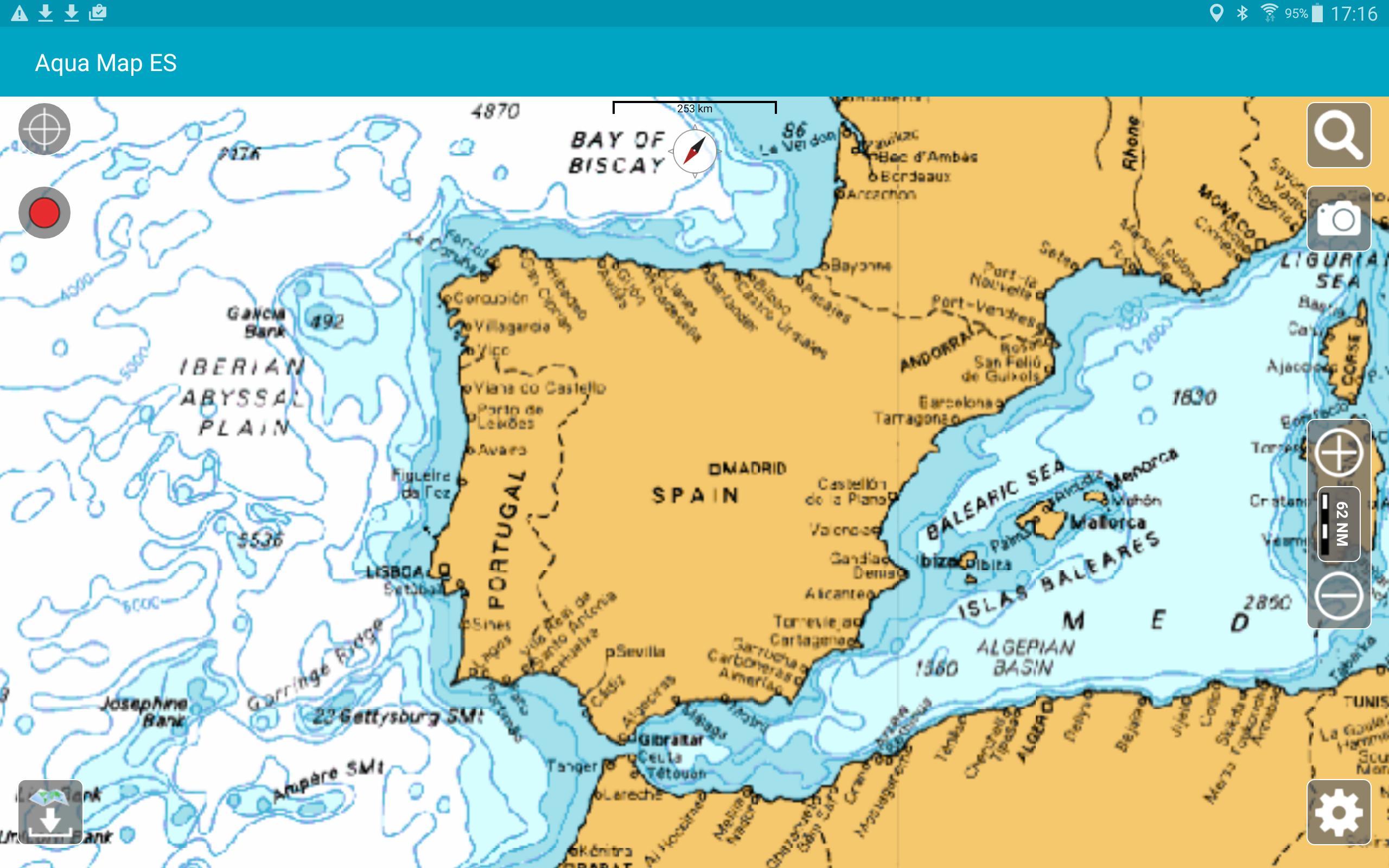 Aqua Map Iberia - Marine GPS for Android - APK Download Iberia Map on