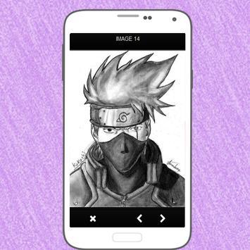 Menggambar Kakashi Hatake apk screenshot
