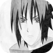 Menggambar Sasuke Uchiha icon
