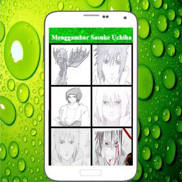 Menggambar Sasuke Uchiha screenshot 1