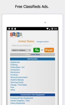 Geebo - Free Classifieds Ads screenshot 7