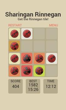 Sharingan Rinnegan 2048 Puzzle apk screenshot