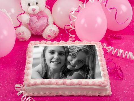 happy birthday photo frame poster