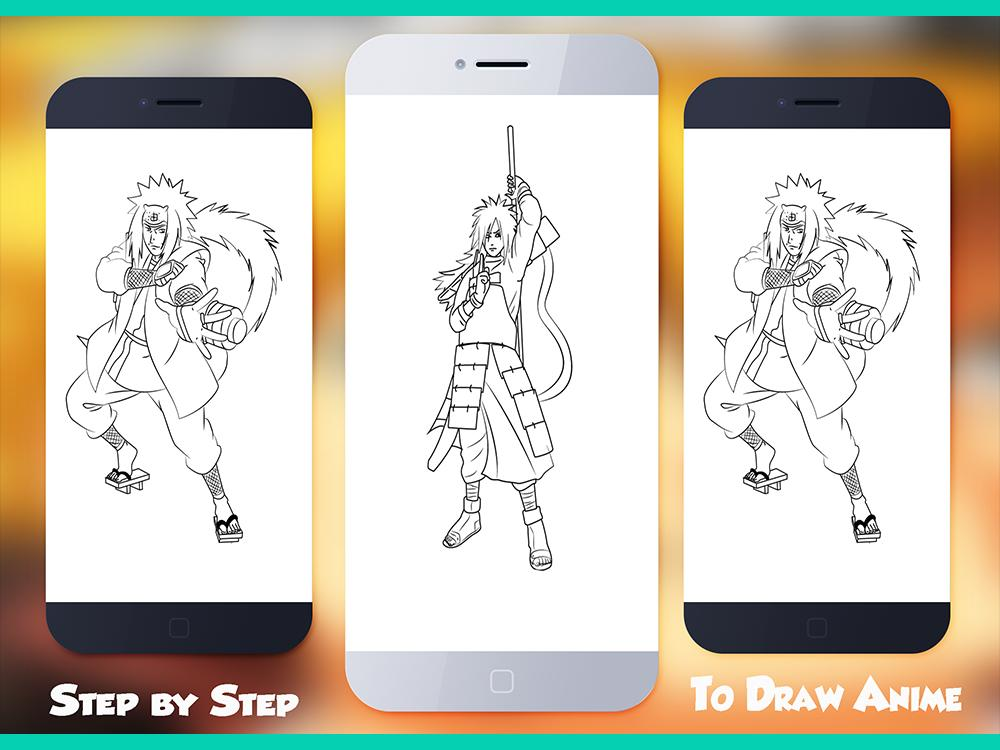 How to Draw Närutö Characters Step by step poster