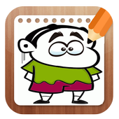 How To draw Shin Chan Easy icon