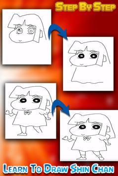 How To draw Shin Chan Easy apk screenshot