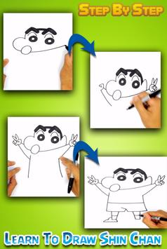 How To draw Shin Chan Easy poster