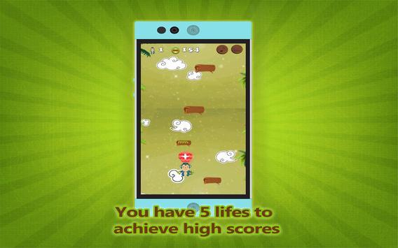 Flying monkey jump Adventure screenshot 10