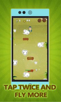 Flying monkey jump Adventure screenshot 2