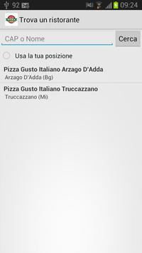 Pizza Gusto Italiano apk screenshot