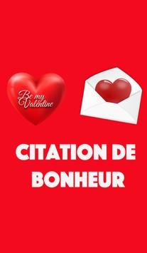 Citations Bonheur poster