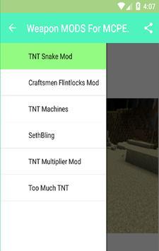 Weapon MODS For MCPE. apk screenshot